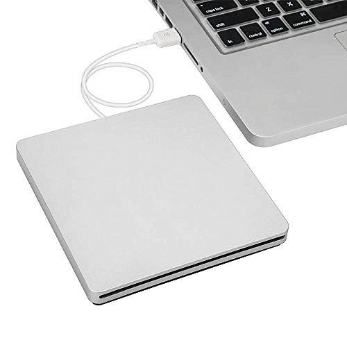 FOWYJ Schneller externes CD-Laufwerk, Neue Architektur dünne und leichte Bewegung mit USB3.0 Übertragungsschnittstelle 24X Brenngeschwindigkeit für Notebook-PC Büro