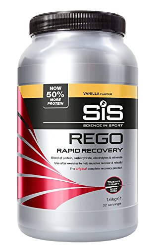 Science in Sport Rego Rapid Recovery, Whey Protein Recovery Shake with Added Carbohydrates & Electrolytes for Muscle Recovery (Vanilla, 1.6 kg)