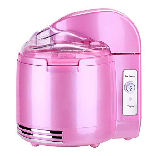 Helado de máquina-1.5 L Capacidad de helado de máquina, especial GELATO Pulp, una máquina for fines múltiples, también puede hacer sorbete, yogurt Postre, conveniente for el hogar-rosa zhuang94