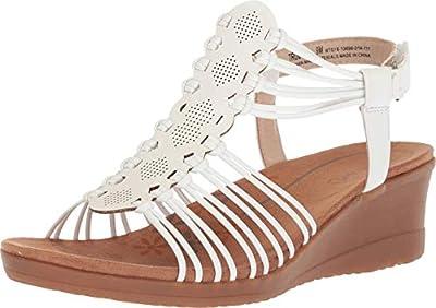BareTraps Women's Trudy Sandal, White, 8.5 Medium US