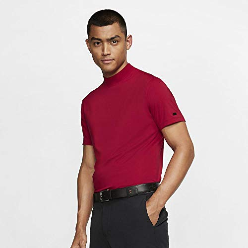 Nike TW Vapor Dri Fit Mock OLC Golf Polo 2019 Gym Red X-Large Dri Fit Mock Neck Shirt
