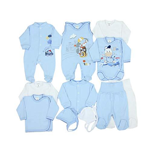 TupTam Conjunto de Ropa Bebé Recien Nacido,11 Piezas, Azul Perros, 56