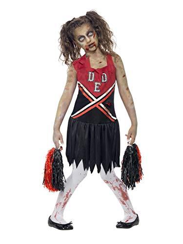 Zombie Cheerleader - Halloweens - Nios Disfraz, 7-9 aos (M)