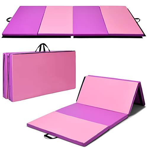 Giantex 4'x8'x2' Gymnastics Mat Thick Folding Panel Gym...