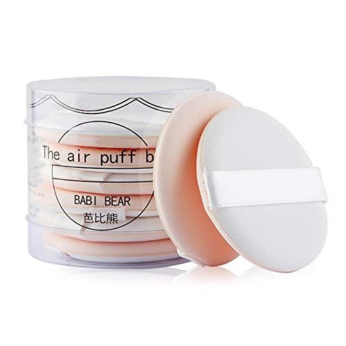 Lot de 8 maquillage ultra-douce Fondation éponge coussin d'air Puff Puff maquillage Set cosmétiques outil de beauté Blending éponge pour le liquide et la poudre crème (Beige)