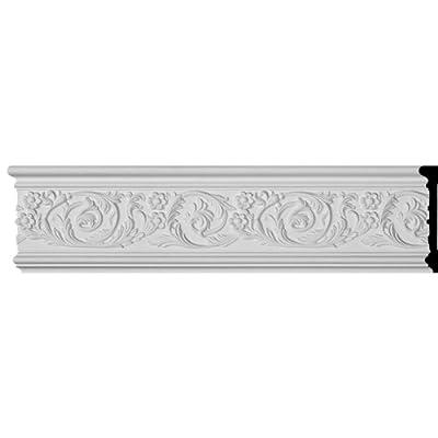 Ekena Millwork 6 inch H x 1 8 inch P x 94 1/2 inch L Kinsley Panel Moulding