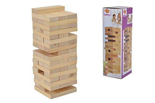 Eichhorn - Juego de Habilidad para Toda la Familia, Torre de Equilibrio Fabricada en Madera sin Tratar, Torre de 54 Piezas, Adecuado a Partir de 5 años