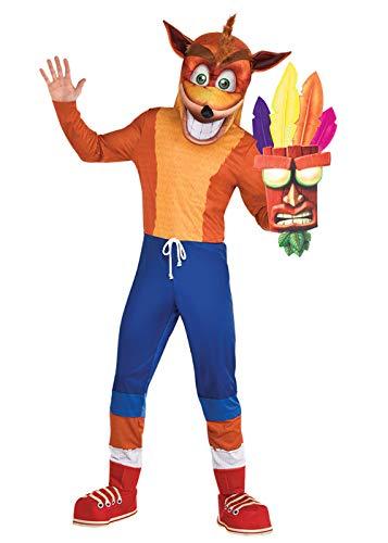 "amscan Disfraz de Crash Bandicoot para Adultos Std. (39-41"" Chest)"