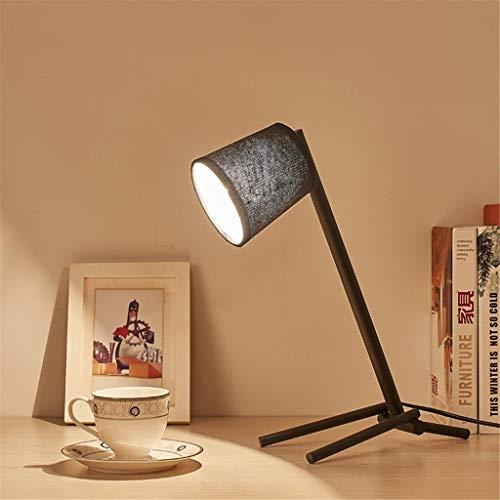 L.W.SURL Dekorative Lesetischlampe Schlafzimmer Nachtspeisezimmer buchen Schreibtisch Nordic Cloth Kleiner Roboter Kreative LED-Lampe