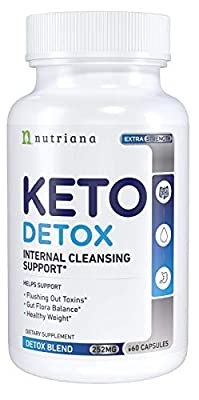 Best Keto Detox Cleanse Weight Loss Pills for Women and Men - Keto Colon Cleanser and Detox for Weight Loss - Ketogenic Diet Support to Boost Energy and Flush Toxins - 60 Count by Nutriana