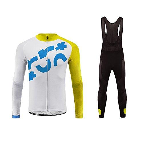 Uglyfrog Maillot Pantalon Cyclisme Manches Longues Respirant Séchage Rapide 3D Gel Rembourré Costumes pour Vélo VTT Set Great Gift for Bicycle