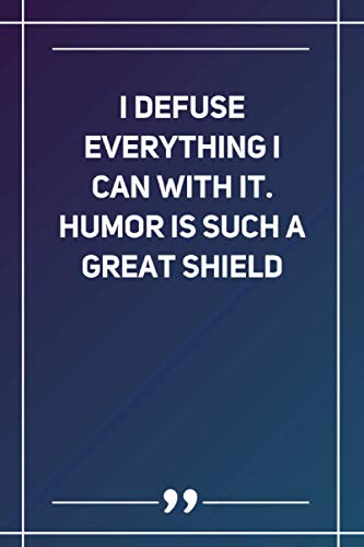 I Defuse Everything I Can With It. Humor Is Such A Great Shield: Wide Ruled Lined Paper Notebook | Gradient Color - 6 x 9 Inches (Soft Glossy Cover)