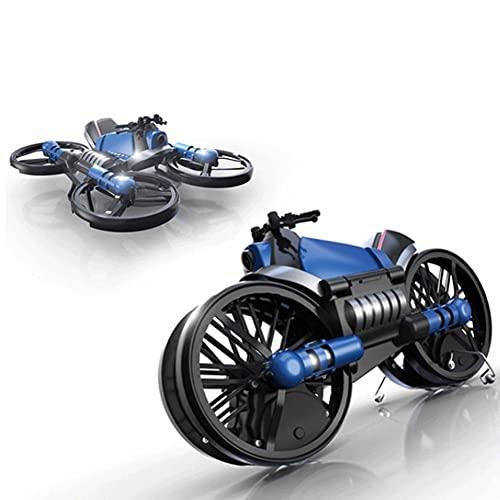 CLNAONG Carro De Control Remoto, Avión de Cuatro Ejes RC Toys Toys Quadcopter Deformación Motocicleta Plegable Quadcopter Drone Doble Mode 2 en 1 Juguete
