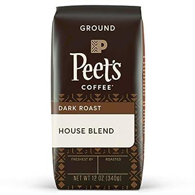 Peet's Coffee House Blend, Dark Roast Ground Coffee, 12 oz