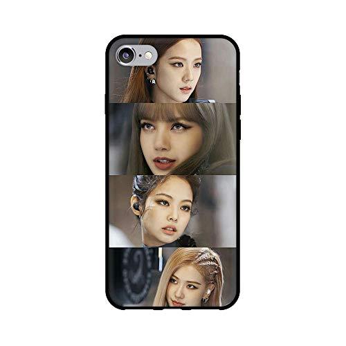 通用 Blackpink Redmi Note 8T Funda Carcasa Silicona Suave Case Cover TPU Protectora Lisa Rose Jennie JISOO para Xiaomi Redmi Note 8T