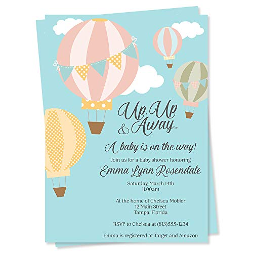 hot air balloon invitations - 2