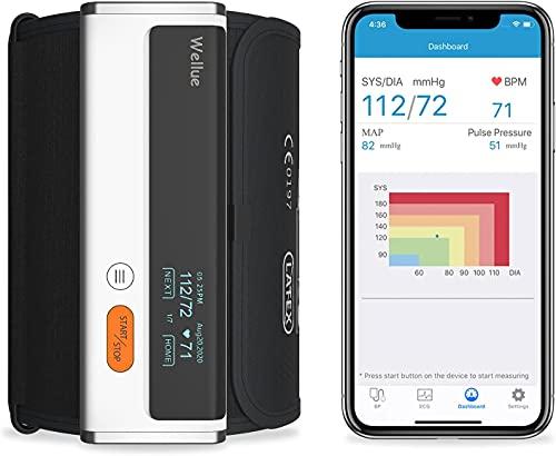 Wellue Armfit Plus Tensiómetro de Brazo Digital con Función de ECG, Monitor para la Presión Arterial, APP de Conexión Bluetooth para iOS y Android