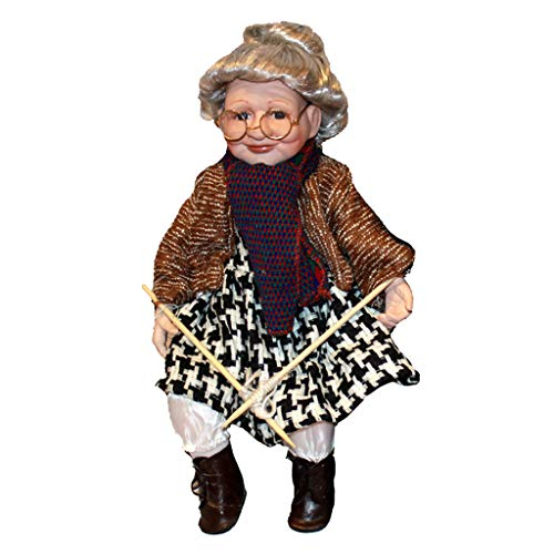 T TOOYFUL 45 Centimetri Elegante Bambola di Porcellana da Collezione Bella Adorabile Nonna Figure Giocattolo