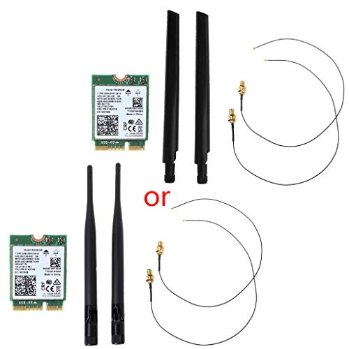 Ontracker - Tarjeta WiFi Int-EL 9560 AC 9560NGW 1,73 Gbit/s WLAN 802.11ac con antena