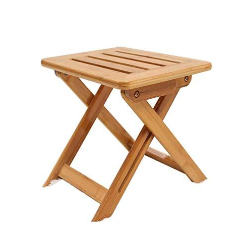 TANGONG Taburete Plegable Pequeña Silla Plegable Portátil Mazar Home Mini Banco Silla De Comedor Simple para Adultos De Bambú