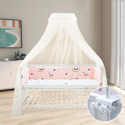 Liveinu Mosquitera para cama sin agujeros, mosquitera para cama doble para viajes y hogar, dosel para bebé, dormitorio, decoración, color rosa