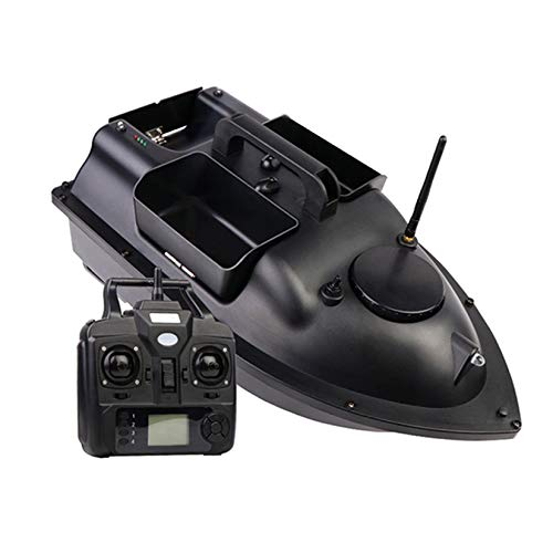 RC Fishing Bait Boat, GPS Positioning Automatic Return, Three Warehouse Bait Boat, Dual-Engine Remote Control Fishing Boat Fishing Tools,,Black,GPS 12000MAH