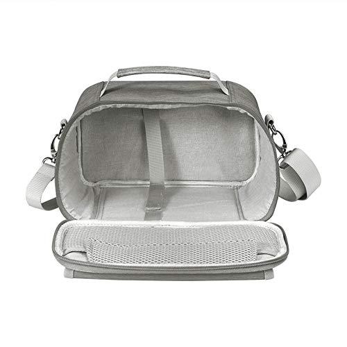Bolsa de transporte con doble capa, compatible con Cricut Joy Machine, Cricut Joy Starter Set de herramientas de escritura fina y otros accesorios, compacto y portátil, flor lila (sólo bolsa)