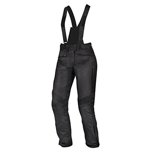 SHIMA NOMADE TROUSERS BLACK, Einstellung Wasserdicht Ventilierten Damen mit Protektoren Textile Motorradhose (XS-XL), Schwarz