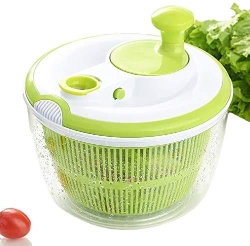 ERYI Large Salad Spinner and Keeper - 5L Lettuce Spinner Vegetable Washer Dryer with Large Salad Bowl and Plastic Colander, Fruit Veggie Wash & Salad Making, BPA Free