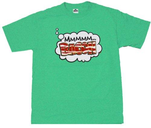 Mmm Bacon Graphic T-Shirt Green, 2XL