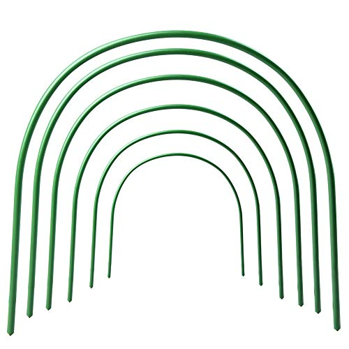 VKTY 6-Pack Greenhouse Hoops for Netting,Plastic Coated Support Hoops for Vegetable Netting Bendable Small Tunnel Hoops for Vegetable Tomato Strawberry
