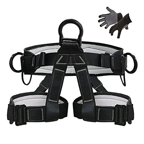 KLLKR Arnés de Escalada de árboles arnés de Seguridad de protección contra caídas cinturón de Seguridad para Deportes al Aire Libre Cinturones de protección de Soporte de Cintura para montañismo