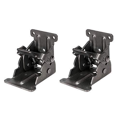 IWILCS - 2 gambe pieghevoli da tavolo pieghevoli, con chiusura a scatto, per lettini e tavolini in legno, per panche da piedi