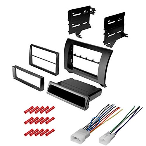 CACHÉ KIT2082 Bundle with Car Stereo Installation Kit for 2007 – 2013 Toyota Tundra – in Dash Mounting Kit, Harness for Single or Double Din Radio Receiver (3 Item)