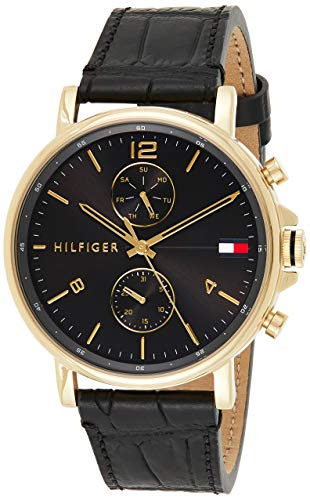 Tommy Hilfiger Quarz Uhr mit Leder Armband 1710417