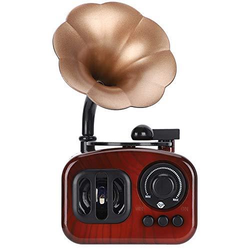 Caja de música con Forma de fonógrafo, Caja de música Retro Grabe Lentamente con Forma vívida Sonido de Caja de música nítido y Hermoso para Oficina para el hogar