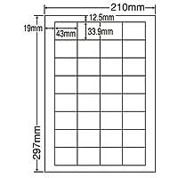 東洋印刷 シートカットラベル A4版 32面付(1ケース500シート) LDW32UF