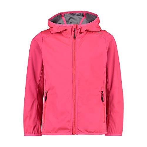 CMP Mädchen Softshell Jacket with Fixed Hood Jacke, Gloss, 128