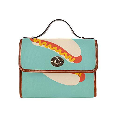 Ladies Shoulder Bags Delicious Hot Dog American Fast Food Women Crossbody Satchel Bag Tote Shoulder Bag Handbags For Girl Lady Travel Work Shopping Large Crossbody Bag For Women