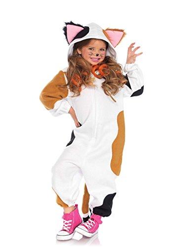 Leg Avenue Kinder Katzen Kostüm Cozy Calico Cat Onesie M/L (132-145 cm)