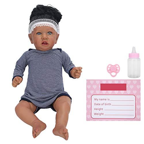 FOLOSAFENAR 22 Pulgadas Realista bebé muñecas bebé renacido, A Salvo, Exquisita artesanía, Accesorios para muñecas Reborn con Latido del corazón y Sonido arrullador para niños Mayores de 3 años
