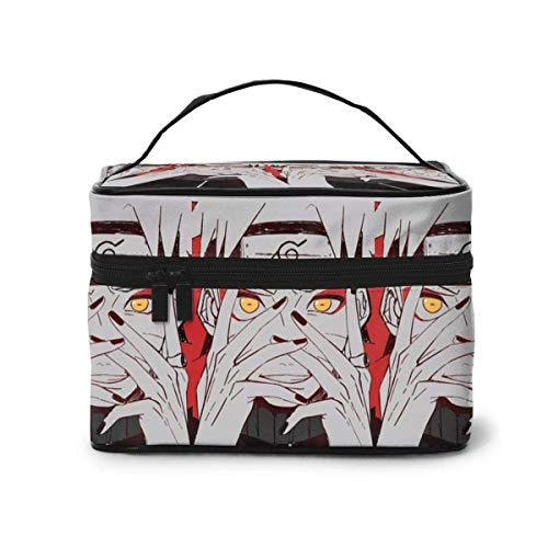 Makeup Bag, Cool Naru-to Travel Portable Cosmetic Bag Large Pouch Mesh B Organizer Toiletry Bag for Women Girls
