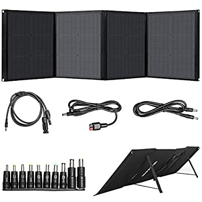 BEAUDENS 100W Solar Panel, Foldable Kickstand, Monocrystalline, Support Type C/DC/QC3.0/USB Ports, Portable Solar Charger for Power Station Solar Outdoor Generator and Laptop iPhone iPad