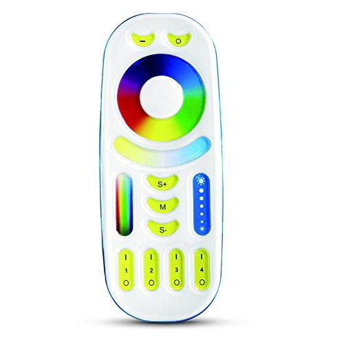 Milight 2.4G RF Wireless 4-zone RGB + CCT controlador remoto Utilizado para controlar milight RGB +CCT WiFi bombilla LED GU10 MR16,6W 9W 12W E27,4W MR16,50W LED Flood Light,Tira de LED Controller Box