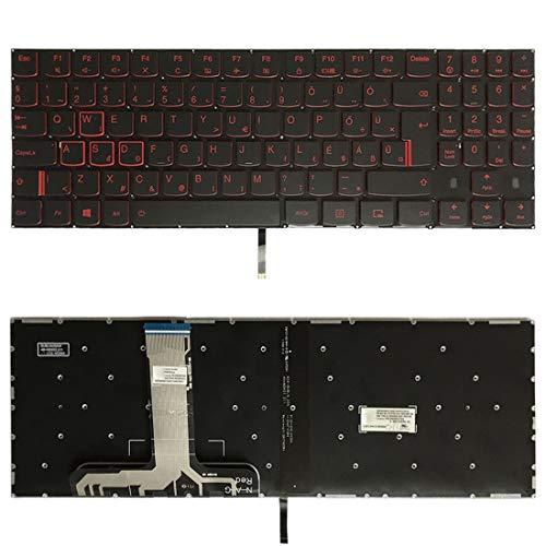 WANGZHEXIA Tastiera di Ricambio Versione UK Tastiera con Retroilluminazione Tastiera per Lenovo Legion Y520 Y520-15IKB R720 Y720 Y720-15IKB