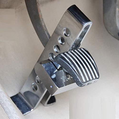 LILICEN Acelerador de pedal herramienta Bloqueo auto del coche de acero inoxidable anti-robo de embrague cerradura del coche cerradura de seguridad del freno con claves conveniente for la altura del e