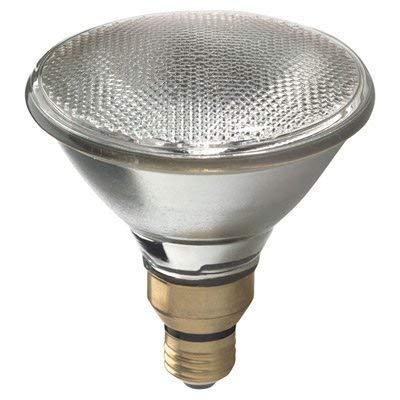 G E Lighting 66282 Floodlight Bulb, 80-Watts, Par 38, Indoor/Outdoors, Quantity 2 Light Bulbs