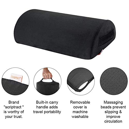 starte Foot Rest Under Desk Cushion With Fluffy & Soft Memory Foam With Velvet Cover For Lumbar Knee & Back Support Pad & Rocker For All Types Of Usage & Maximum Comfort