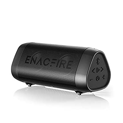 Bluetooth Speaker, ENACFIRE SoundBar Portable Wireless Speakers 25-Hour Playtime Crystal Clear Stereo Sound Enhanced Bass IPX7 Waterproof Speaker with Built-in Microphone by ENACFIRE