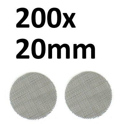 Black Leaf 200 Stahlsiebe D 20mm (2x100er Beutel) Einlegesiebe Pfeifensiebe